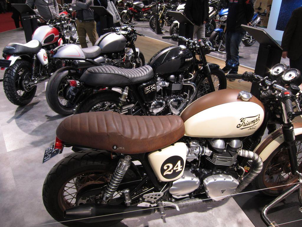 Salon de la moto 2013 les pr pas du stand triumph - Salon de la moto 2013 ...