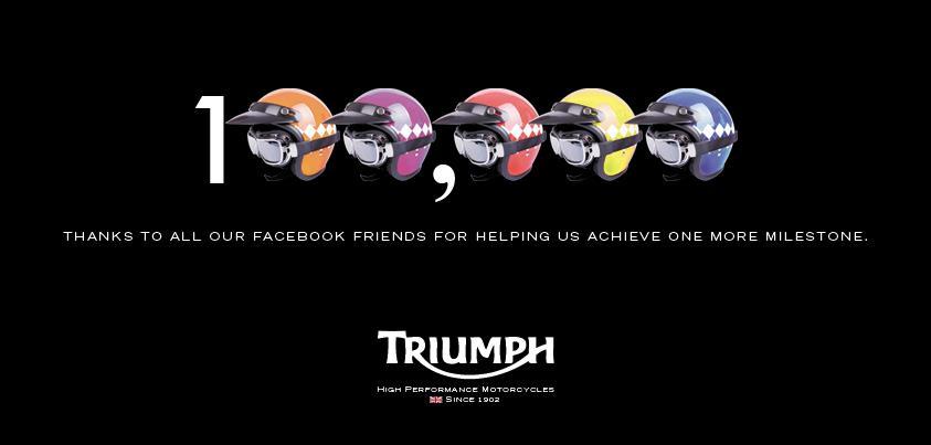 La page Facebook de Triumph passe les 100 000 fans